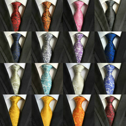 Wholesale Silk Ties Men Classic - 200 Styles 8cm Men Ties Fashion Classic Neckties Handmade Wedding Ties High Quality Silk Paisley Neck Ties Stripes Plaids Dots Business Tie