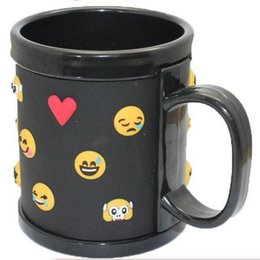 Wholesale F Gel - PVC Mug Soft Silica Gel Emoji Crazy Face Practical 3D Anaglyph Expression Party Drinking Beer Cup Top Quality 10ct F