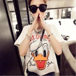 Wholesale Roupa Korean - Wholesale-2016 summer animal prined tee shirt femme korean fashion roupa clothes for women tumblr poleras female camisetas mujer t-shirt