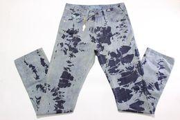 Wholesale Newest Style Jeans - Newest Crystal Robins Zipper Jeans Elastic Cotton Mens Biker Jeans Wash Studded Cowboy Slim Denim Trouser Print Skinny Jeans Pants