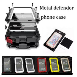 Wholesale Shock Resistant Mobile Phone - For iphone 7 7 plus 5 5s 6 6plus Waterproof Metal Case Hard Aluminum Dirt Shock Proof Mobile Cell Phone Cases Cover with retail pack