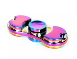 Wholesale Rainbow Choice - EDC Hand Spinner Fidget Toy Good Choice For decompression anxiety Finger Toys rainbow color aluminum hand spinner hot