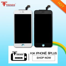 "Wholesale Iphone Glass Frame - Grade AAA For IPhone 6 Plus 5.5"" Black LCD Digitizer Screen Assembly Replacement Frame with Free Repair Tools Or Tempered Glass Gifts"