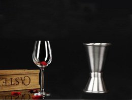 Wholesale Cocktail Measure Cup - 15-30ml Stainless Steel Jigger Single Double Shot Cocktail Wine Short Measure Cup Drink Bar Party Accessories