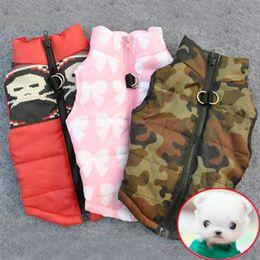 Wholesale Harness Jacket - L042 Winter Warm Pet Dog Clothes Vest Harness Puppy Coat Jacket Apparel 6 Color Large New