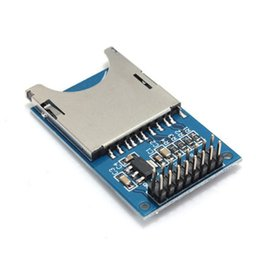 Wholesale Slot Module - Wholesale-10PCS SD Card Module Slot Socket Reader For ARM MCU Read And Write