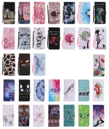 Wholesale Google Cartoon - Printed Flip Wallet Leather TPU Case Flower Cartoon Stand For iPhone 7 Plus Samsung Galaxy S7 Edge J5 J7 Prime Google Pixel XL LG K7 K10