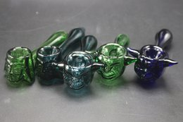 Wholesale Glass Blown Pieces - Best Selling Colorful Smoking Blown Glass Hand Pipes Cheap Pyrex Glass Tobacco Spoon Pipes Unique Pot Pipes Dry Herb Smoking Pieces