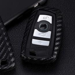 Wholesale Bmw Cases - Carbon Fiber Car Key Ring Key Chain Holder Auto Keys Case Cover For BMW X1 X3 X4 X5 X6 1 Series 3 5 7 E90 M1 M2 M3 F10 F20 F30