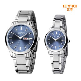 Wholesale Japanese Quartz Clock Movements - 2017 Fashion EYKI Brand Japanese Movement Watches for Couple Stainless Steel Back Men's Women's Bracelet Watch Waterproof Clock relojes saat
