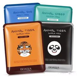 Wholesale Tiger Mask Wholesale - 2017 NEW BIOAQUA Tiger Panda Sheep Dog Shape Animal Face Mask Moisturizing Oil Control Hydrating Nourishing Facial Masks Free shipping