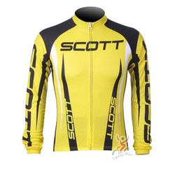 Wholesale Scott Long Sleeve Bike - 2017 SCOTT Pro Team Long Sleeve Cycling Jersey Maillot Ropa Ciclismo Bike Clothing Bicicleta Clothes Racing Tops D1204