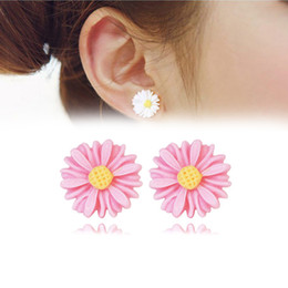 Wholesale Plastic Magnetic Clips - New Brand Summer Style Flowers Earring For Women Brincos Allergy Free No Ear Hole Magnetic Earings Women Brincos Jewelry Gift