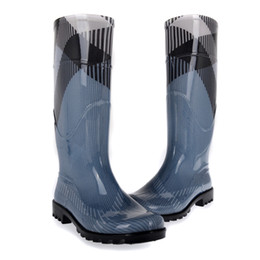 Wholesale Pvc Rain Boots - blue luxury brand women rainboots fashional rain boots environmen pvc waterproof shoes women european size rainboot boots lady rain-boots