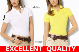 Wholesale Plus Size Quality Clothing - 2017 New Summer Women Short Sleeve Polo Shirts Cotton Small Horse Embroidery Solid Brand Clothing Woman M-XXL plus size good quality Polo