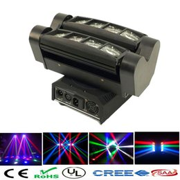 Wholesale Led Disco Cheap - Wholesale- Cheap price 8x10W RGBW MINI Led Spider Moving Head Beam Light DMX LED Spider Light LED Moving Head party dj disco lights