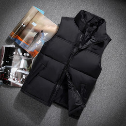 Wholesale Duck Vest Xl - Top Quality Winter men north Down vest Camping Windproof Ski Warm Down Coat Outdoor Casual Hooded Sportswea vest 606