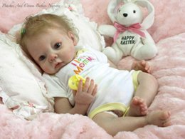 Wholesale Reborn Vinyl Kit - 20-22inch Very soft silicone vinyl reborn doll kit lifelike real touch unpainted, head , arms and legs