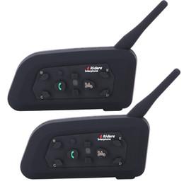 2019 cuffie intercomunicanti 2 PZ Vnetphone V6 Moto Bluetooth3.0 Casco Intercom Auricolare 1200 M Moto Wireless BT Interphone per 6 Riders Casco Citofono cuffie intercomunicanti economici