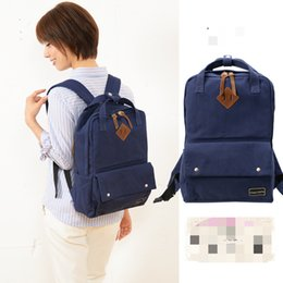 Wholesale Patchwork Japanese Bag - The new all-match leisure fashion backpack Japanese Korean ulzzang color Canvas Backpack Bag student portable travel