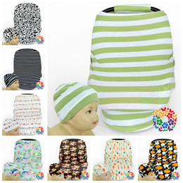 Wholesale Wholesale Nursing Caps - Baby Caps Stroller Cover Car Seat Canopy Shopping Cart Cover Hats Sleep Pushchair Case Pram Beanie Breastfeed Nursing Covers 60sets OOA2520