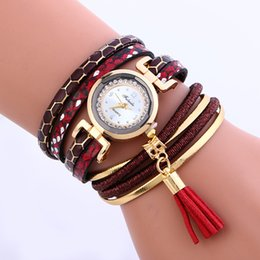 Wholesale Rope Belted Dress - Fashion Women Leather Snake Skin Bands Bracelet Watch 2017 Wholesale Ladies Casual Leisure Diamond Rope Dress Quartz Watches