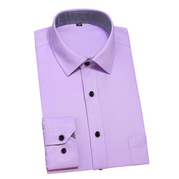 Wholesale Men Dress Shirts New Style - Wholesale- 13 Colors Men Long Sleeve Dress Shirts 2017 Spring New Slim Fit Man Business Wear Shirt Solid and Patchwork Style 4XL YN1001