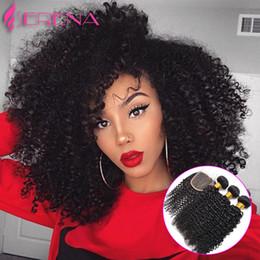 Wholesale Unprocessed Grade Virgin Hair - Peruvian Virgin Hair with Closure 7A Grade Virgin Unprocessed Human Hair with Closure Afro Kinky Curly Virgin Hair with Closure
