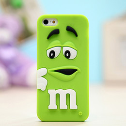 "Wholesale 3d Chocolate Iphone Case - Phone Cases For iPhone 6 6s 7 plus 3D Cartoon Silicone M&M""s Fragrance Chocolate Rainbow Beans Cell Phone Cases Cover"