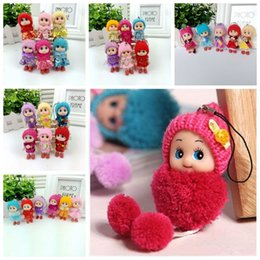 Wholesale Dress For Pvc Figures - Hot selling Cute Mini Ddung ddgirl Dolls Keychain Pendant Fashion Popular Gum Dolls Girl Toys good Promotional gift for girl Plush Toys