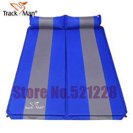 Wholesale Inflatable Beach Pad - Wholesale- 2 persons automatic inflatable cushion self inflating mattresss moisture-proof beach fishing outdoor camping Mat park BBQ pad