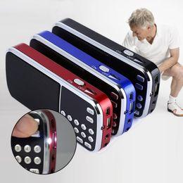 Wholesale Mini Speaker Micro Amplifier - 2016 Hot sale L-088 Portable HIFI Mini Speaker MP3 Audio Player Flashlight Amplifier Micro SD TF FM Radio