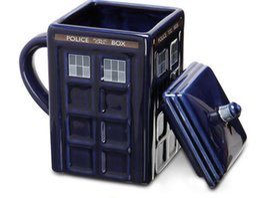 Wholesale Mugs For Kids - Doctor Who Tardis Creative Police Box Mug Funny Ceramic Coffee Tea Cup 500 ML Ceramic water cup For kids student Gift KKA1869