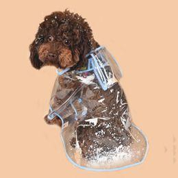 Wholesale Winter Wedding Coat Hood - dog clothes transparent raincoat light clothes waterproof beautiful small dog raincoat with hood fashion pet dog rain coat jacket rainwear