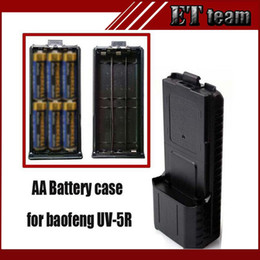 Wholesale Tyt Radio Case - Wholesale- New Black BAOFENG AAX6 Extended Battery Case For Portable Radio Two Way Transceiver Walkie Talkie Baofeng UV-5R UV-5RE TYT TH-F8