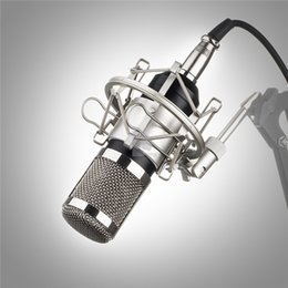 Wholesale Professional Vocal Microphone - Professional BM-800 BM800 Condenser KTV Microphone Cardioid Pro Audio Studio Vocal Recording Mic KTV Karaoke+ Metal Shock Mount