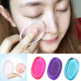 Argentina Hot Cosmetic Silicone Esponja Blender Quick Clean Esponjas de maquillaje suave Puff Flawless Facial Make Up Tools Suministro