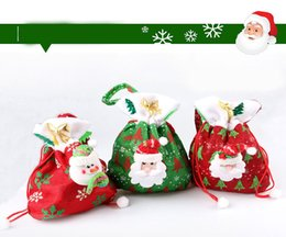 Wholesale Christmas Girdles - Exquisite Print Gift Bags Christmas Gifts Candy Bags Christmas Bags Girdle Gifts Gifts Multicolored Neon Trees Eccentric Bag