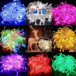 Wholesale Rgb Flashing Led - LED Strips 10M string Decoration Light 110V 220V For Party Wedding led twinkle lighting Christmas decoration lights string