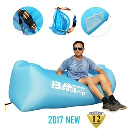 Wholesale Air Bags For Cars - BEAUTRIP brand 2017 PREMIUM Inflatable Lounger 100% Nylon Air Sofa Bed Lazy lay Sleeping Lounge bag pool floats Laybag for Outdoor Camping