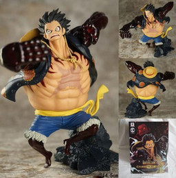 Wholesale Box 15cm - NEW hot 15cm One piece Gear fourth Monkey D Luffy action figure toys Christmas toy with box