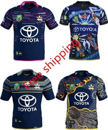 Wholesale Rugby Cowboys - 3AAA+ 2017 New Zealand NRL Indigenous Camouflage Rugby jerseys 16 17 RWC NRL Super North Queensland Cowboys Rugby jersey Shirt Free shipping