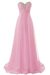 Wholesale Sweetheart Chiffon Strapless Sheath - Sweetheart Cheap Evening Dresses Strapless Chiffon Long Prom Dresses 2016 Formal Gown Bridesmaid Dress Plus Size Maid of Honor Dress