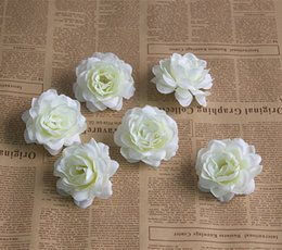 Wholesale Purple Door Wreath - (white red pink purple green) 5cm artificial rose heads,to make door wreath, flower wall,kissing ball,hair clips,hat flowers