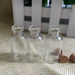 Wholesale Wholesale 3ml Wish Bottles - Wholesale 3ml Clear Glass Bottle Of Wishes Vials With Wood Cork HIgh Quality 3ml Container For Saffron Candy Vanilla Tea Food Drop Shipping