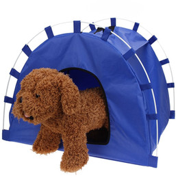 Wholesale Tent House For Dog - Portable Foldable Cute Dots Pet Tent Dog House Easy Operation Waterproof sunscreen Outdoor Indoor Tent For Kitten Kennel