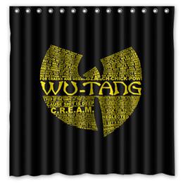 2020 impressão de cortinas de chuveiro Atacado-produtos de banho tecido de poliéster Wu-Tang Clan impresso cortinas de chuveiro cortina lavável à prova d'água 72