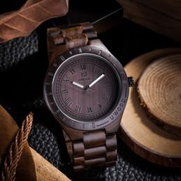 Orologio in legno nero di mens online-Uwood Black Sandal Mens Wood Watch Classy relogio masculino regalo di Natale regalo di Natale Prefettura per gli uomini