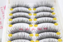 2019 ciglia di capelli umani all'ingrosso All'ingrosso- 10 paia di vendita calda affascinante ciglia finte nere naturale nuovo 2015 designer trucco ciglia capelli umani f-8 ciglia di capelli umani all'ingrosso economici