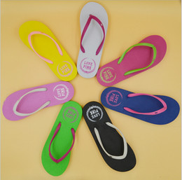 Wholesale Angle Shoes - 2017 new cartoon summer flip flops ladies cool slippers angle flat with flat beach shoes